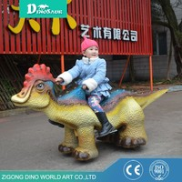 Dino World Animatronic Kids Amusement Park Ride Toys