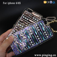 DIY Crystal Diamond Custom Bling Mobile Phone Cover For Iphone 6 6S Shiny Hard PC Phone Case