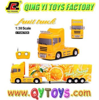 New 1:38 heavy fruit truck rc toys car