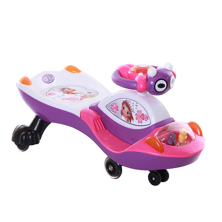 Cheap girl boy swing wiggle car with different colors