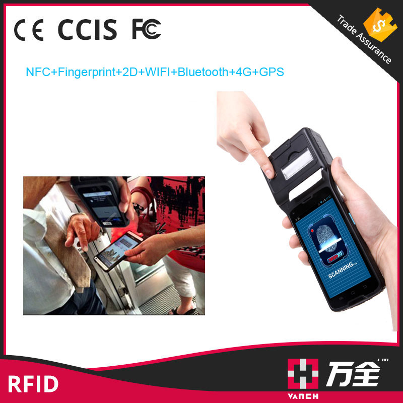 New Vanch RFID UHF Android 2D Scanner Handheld PDA With Thermal Printer