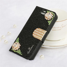 Hot selling leather flip cheap mobile phone case for iphone4s
