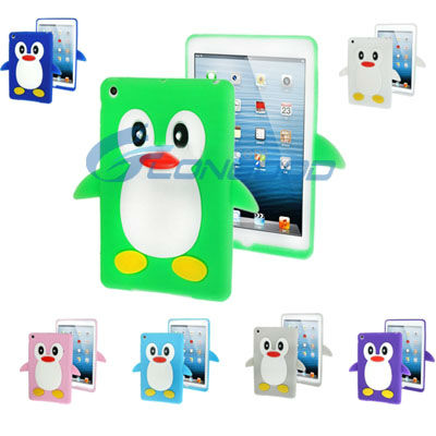Hot Silicon Case 3D Animal Shaped Case for iPad mini, 7 colors