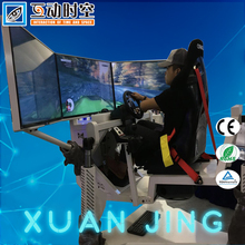 2017 Hot sale!!!3 screen 360 degree rotating dynamic car racing driving game machine ,simulator arcade racing car game machine