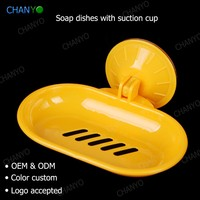 wholesale plastic wall mounted suction cup promotional gift soap dish