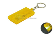 Safety LED Flashing Reflector keychain Light