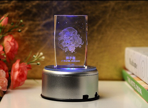 wholesale cheap baby crystal souvenirs with LED base