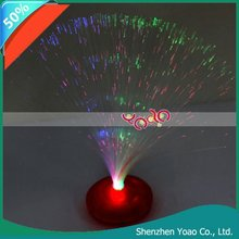 Color Changing Fiber Optic Light Lamp Red Stand