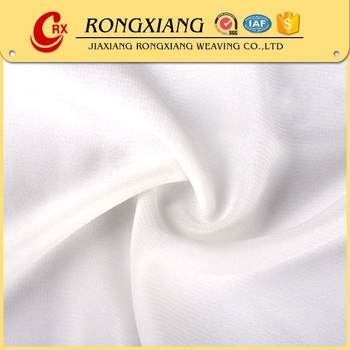 High quality Custom soft 100% white pure silk chiffon fabric