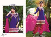 Wholesale Indian Bollywood fashion Punjabi Dress-Patiyala Suit-Pakistani Embroidery work suit