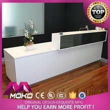 Competitive Price With Custom Printed Logo Nice Design Modern Office Front Counter Design