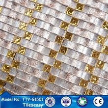 2014 new trend wavy shape glass mosaic tiles decorations