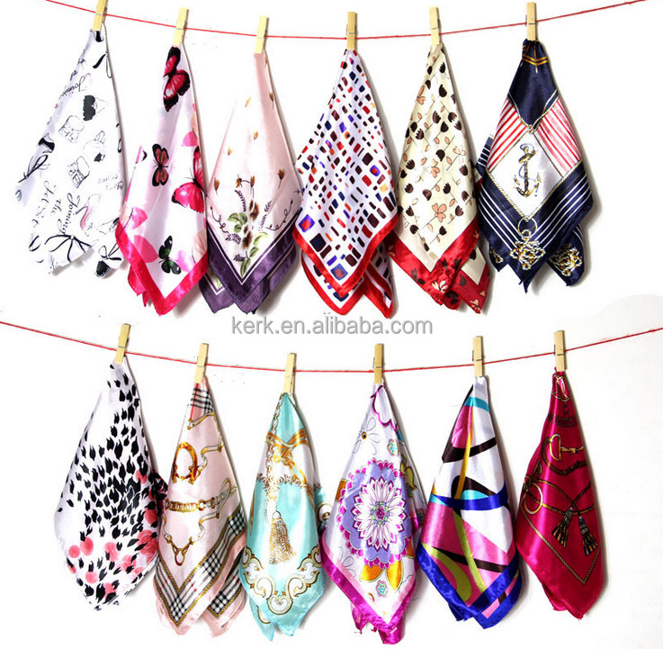 New design spring and summer fashion professional women small square scarves silk 50x50cm wholesale