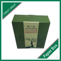 WHOLESALE PRICE CARDBOARD PAPER SHIPPING BOX FOR OLIVE OIL BOTTLE