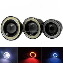 "30W 1200LM COB Angel Eyes LED Daytime Running Light DRL Fog Lamp 2.5"" 3"" 3.5"" Halo Ring"