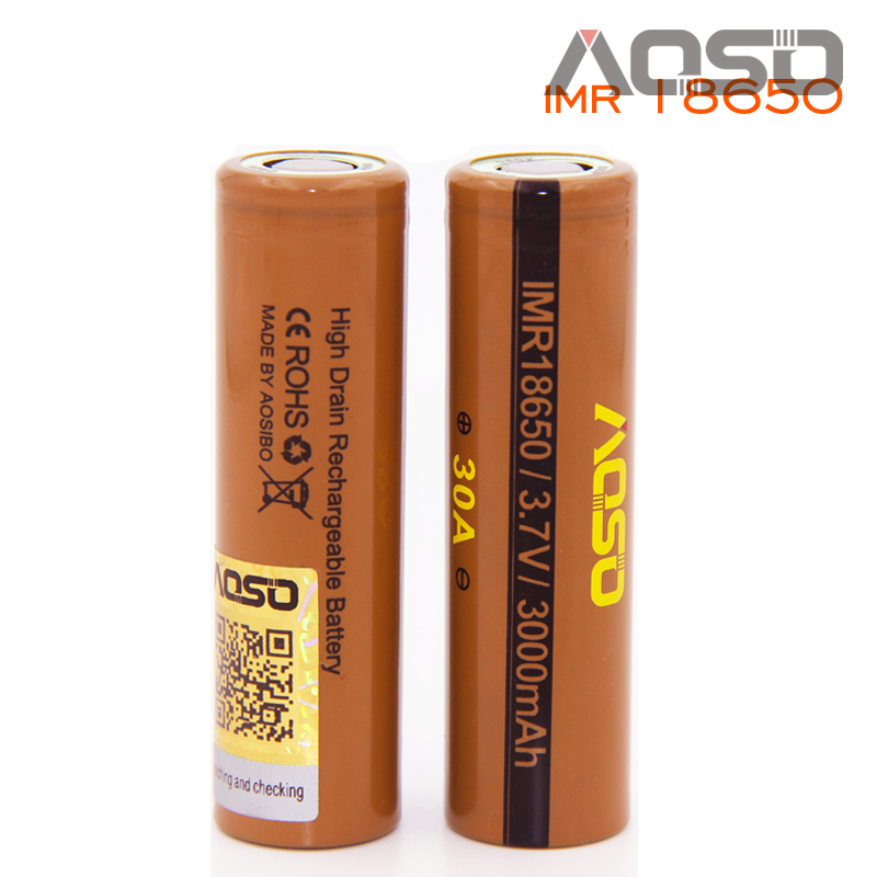 new Wholesale imr recharge lithium ion battery 18650 3000mAh aosibo powerful 30a subox mini battery