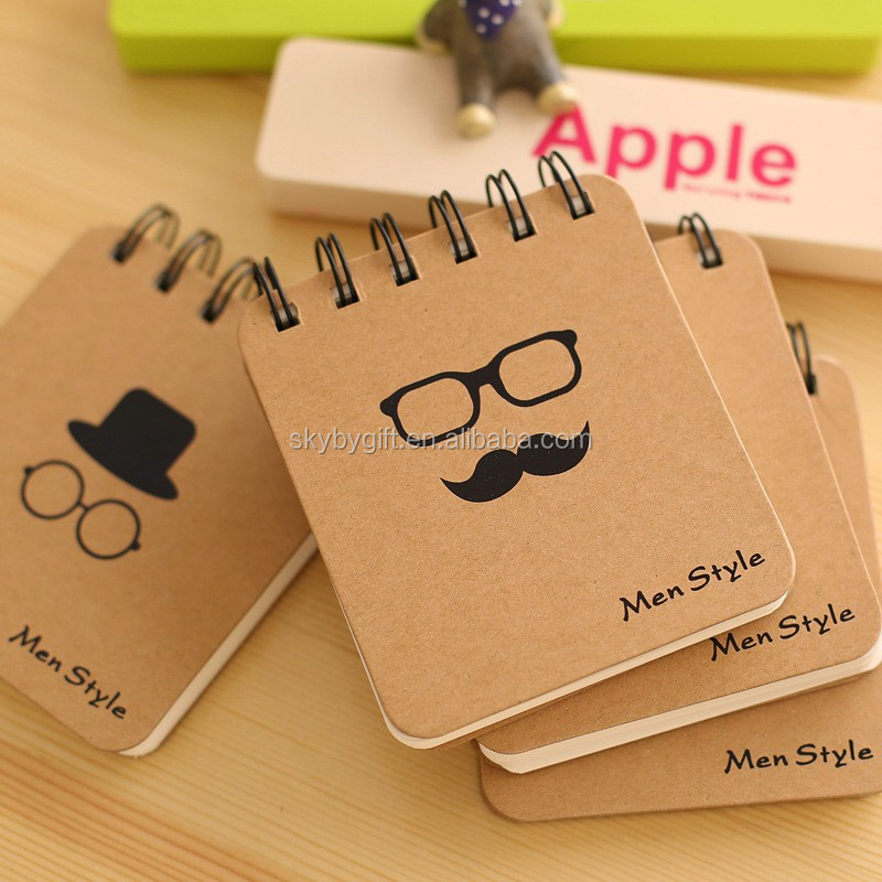 Mr Beard series of stylish men coil creative environmental portable mini notebook