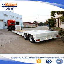 Factory twin axle expandable platform hydraulic lowboy trailer