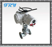 Motorized control valve with rotork electric actuator