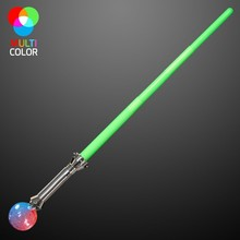 Expandable Light Up Magic Wizard Staff / Sword With Crystal Ball