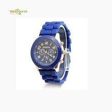 Colorful Silicone Jelly Gel Sport Wrist Watch, Chic Unisex Sports Wrist Watches Wholesale