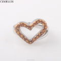 FashionWomen Heart Steel Ring With Animal Draw