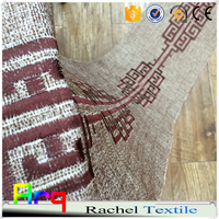 "Traditional fancy geometric Chinese palace embroidery latest design on linen/cotton blend fabric 116"" size"