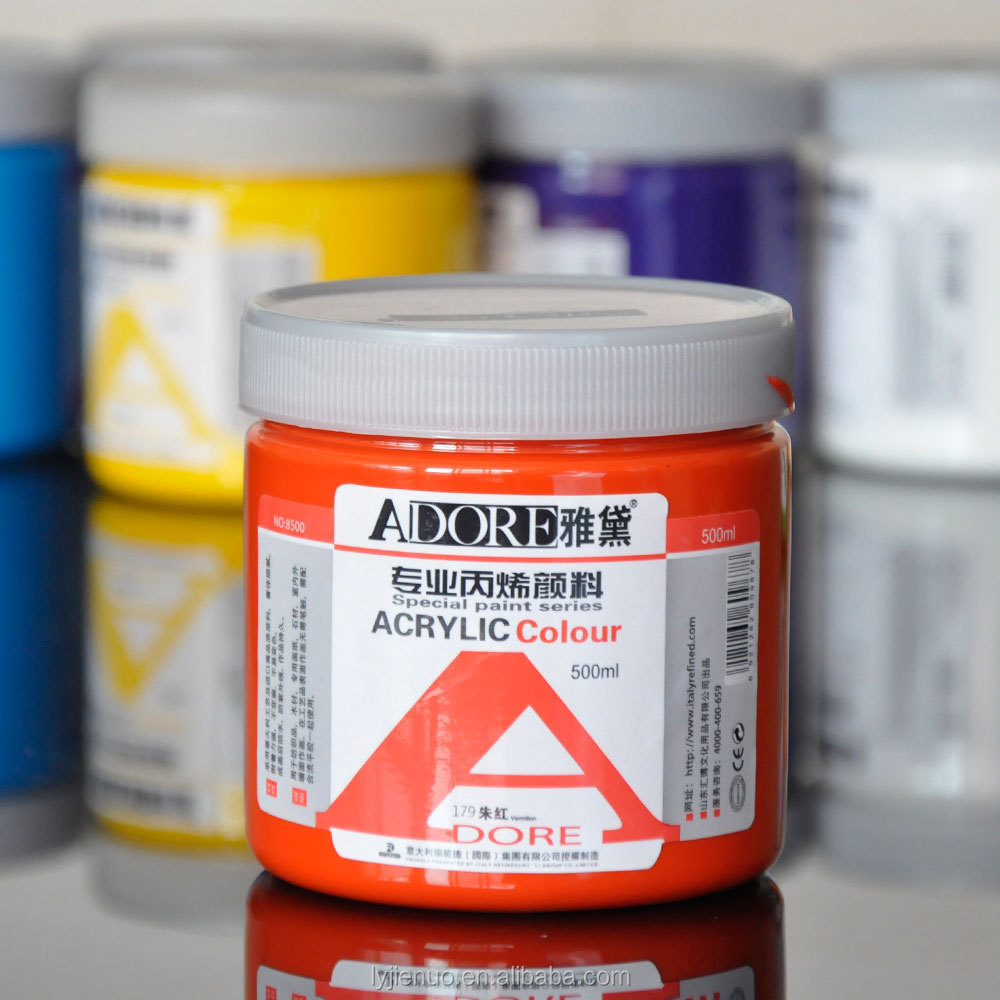 500ml acrylic paint plastic bottle acrylic colour paint for How to use acrylic paints