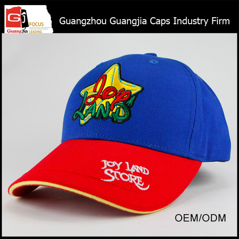 Guangjia Cap Factory Manufacturer Custom High Quality Embroidered 6 Panel Cotton Baseball Cap For Wholesale