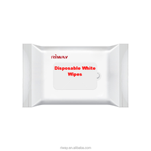 Disposable White Wipes