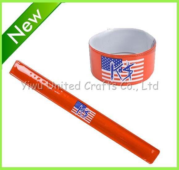Sport slogan Silicon slap bracelets factory/cheap promotion