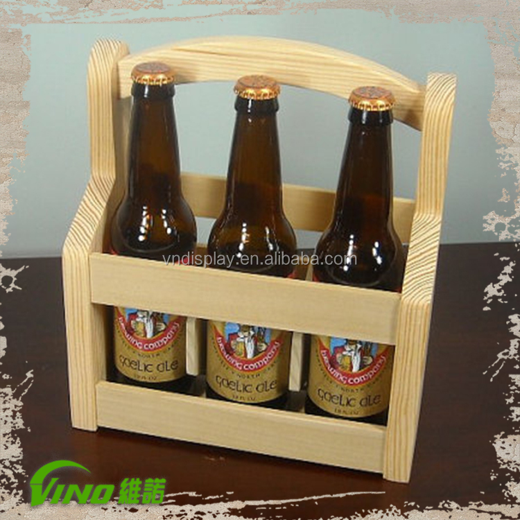 6 Bottle Wooden Beer Carrier, Wine Rack, Beer Crate