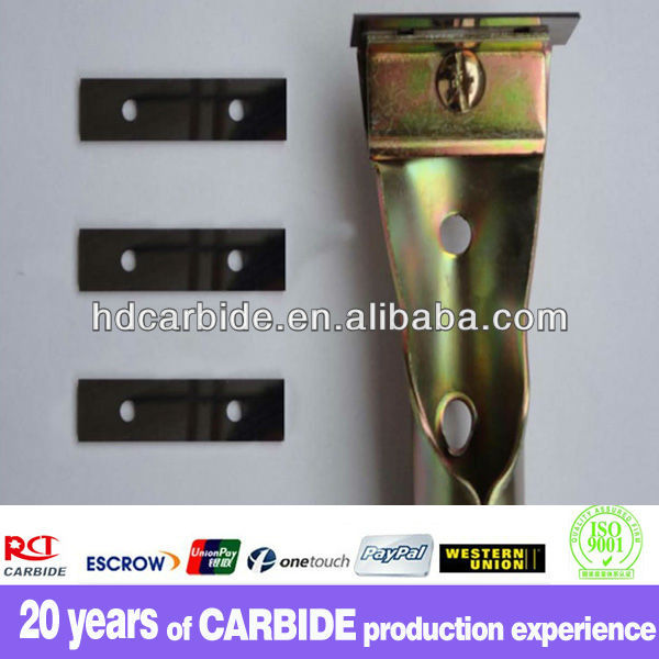 mirror finishing tungsten carbide scraper blade