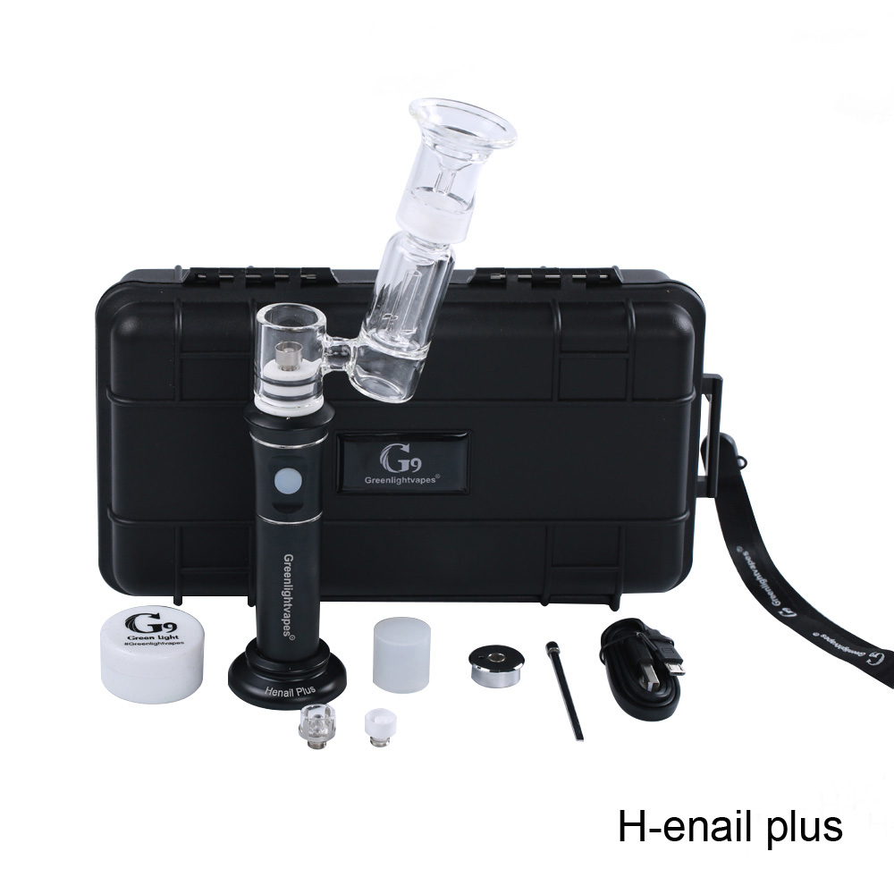 Cbd vape pen with quartz nail g9 henail grerenlight vapes h enail starter kit vaporizer pen