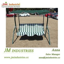 Two seat garden swing chair with canopy
