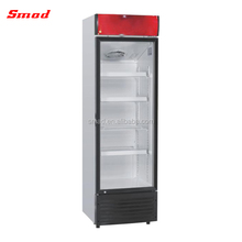 Smad Wholesales Price 378L Upright Showcase Freezer Refrigerator Bakery Beverage Showcase With CE