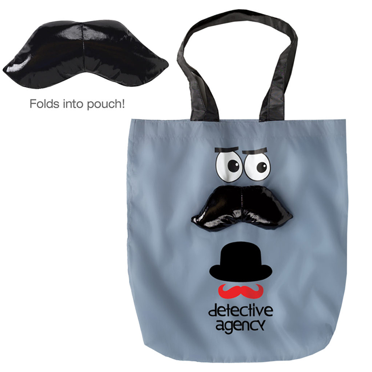 Promotional top quality Printed lips and eyes tote bag