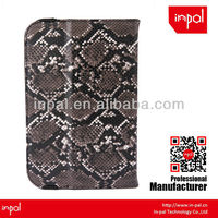 High-end snake skin universal stand leather case with hand strap