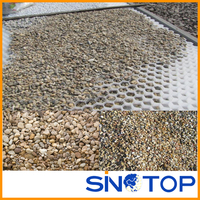100% plastic permeable light weight and easy installation paving grids for gravel driveway