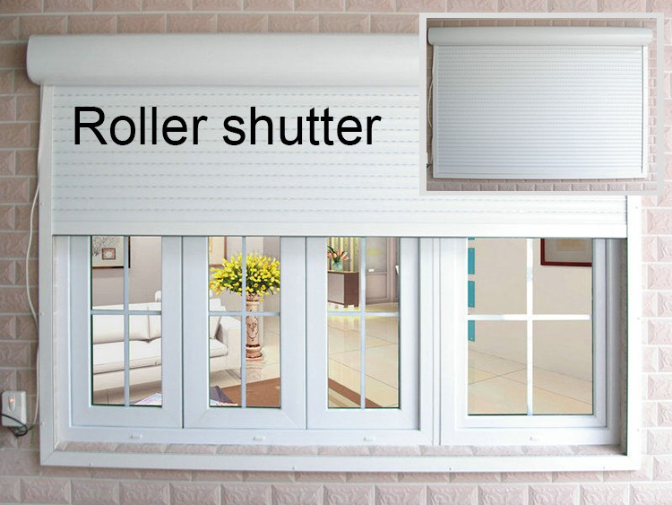 aluminum roller shutters design, Co-extrusion color
