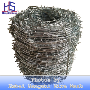 2018 hot sale Barbed wire length per roll /barbed wire fence/barbed wire price Alibaba Express