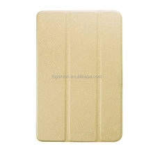 2015 Hot For ipad mini 4 Tri-folding Smart leather case ultra thin with back cover case