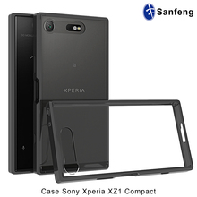 For sony xperia phone covers, clear transparent tpu case for sony xperia XZ1 Compact