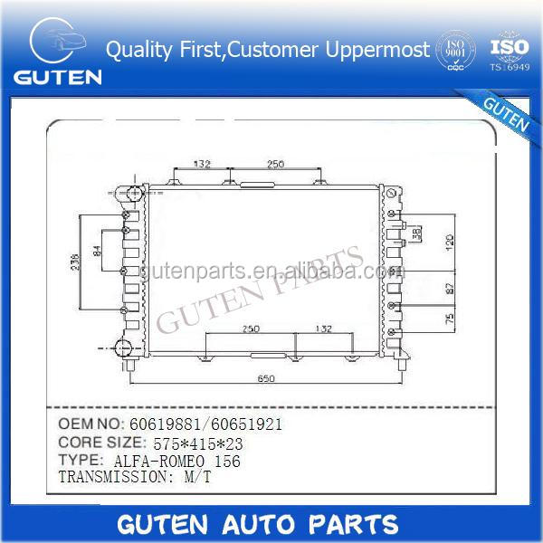 Hot sell radiator pa66-gf30 OEM 46743394