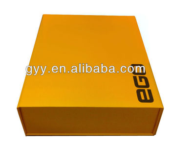 Yellow color large foldable cardboard box for garment