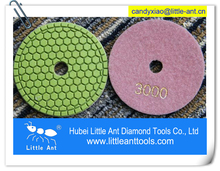 10 mm Wet used diamond polishing pad for granite stones/diamond hand polishing