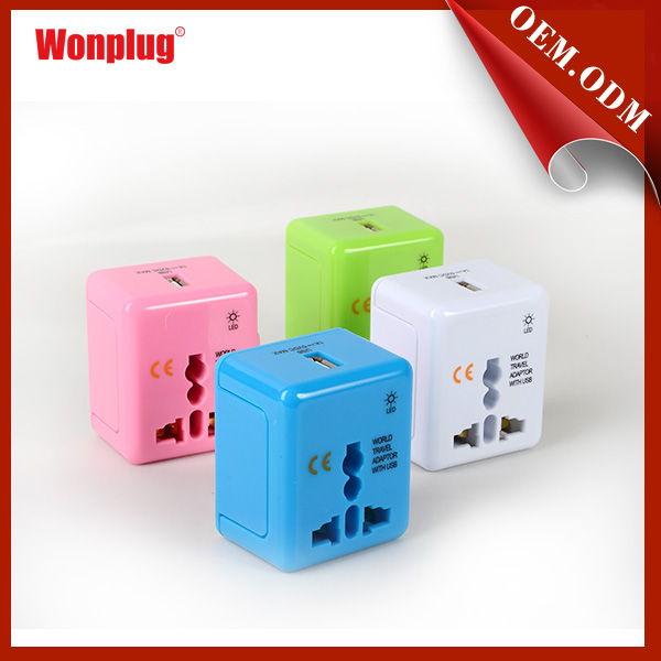 cute 3 in 1 travel usb charger 5v 1000ma for iphone
