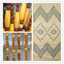 Wooden Bamboo Beaded painted Door Curtains