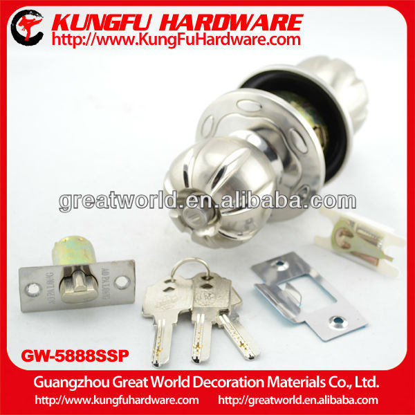 Zinc alloy hotel internal door lock ball knob lock