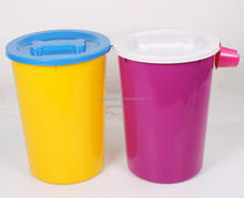Plastic Cylindrical Dog Chow Pet Food Box Storage Container